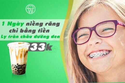 Phí niềng răng 1 ngày chỉ bằng tiền 1 ly trân châu đường đen – Học sinh, sinh viên làm dư sức